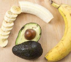 Авокадо с бананами