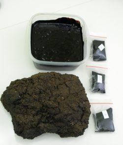 Горная смола - сырье и обработанное