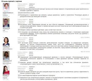 Отзывы врачей о Зиртеке