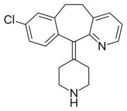 Структурная формула дезлоратадина