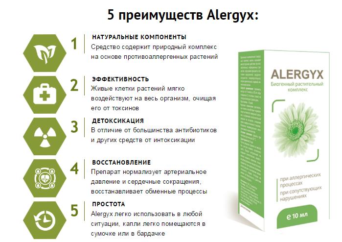 Алергикс преимущества