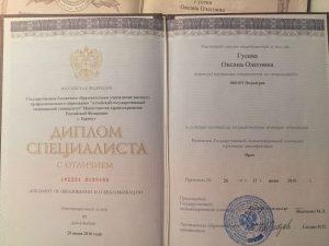 Агеева Оксана - диплом